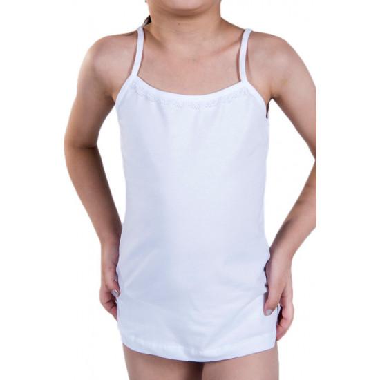 Майка для девочки MBC0993, цвет белый