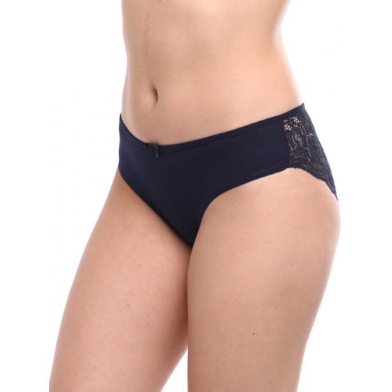 Женские слипы с кружевом SL1002, цвет синий