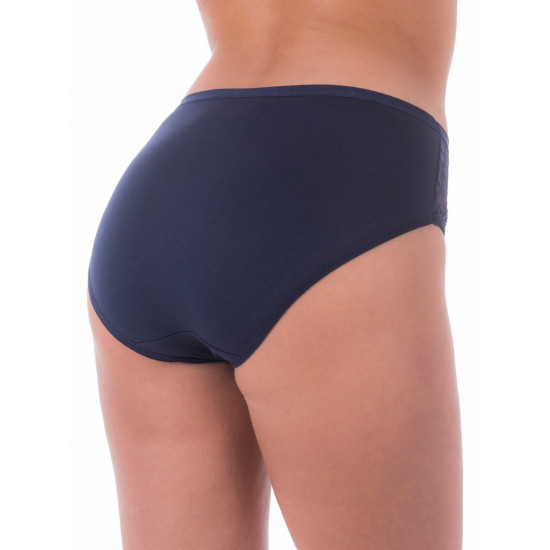 Женские трусы с кружевными вставками SL4003, цвет синий