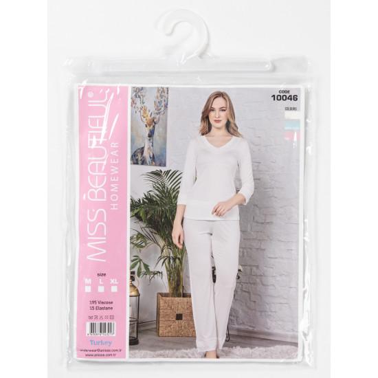 Домашний комплект с брюками MBP10046, цвет шампань